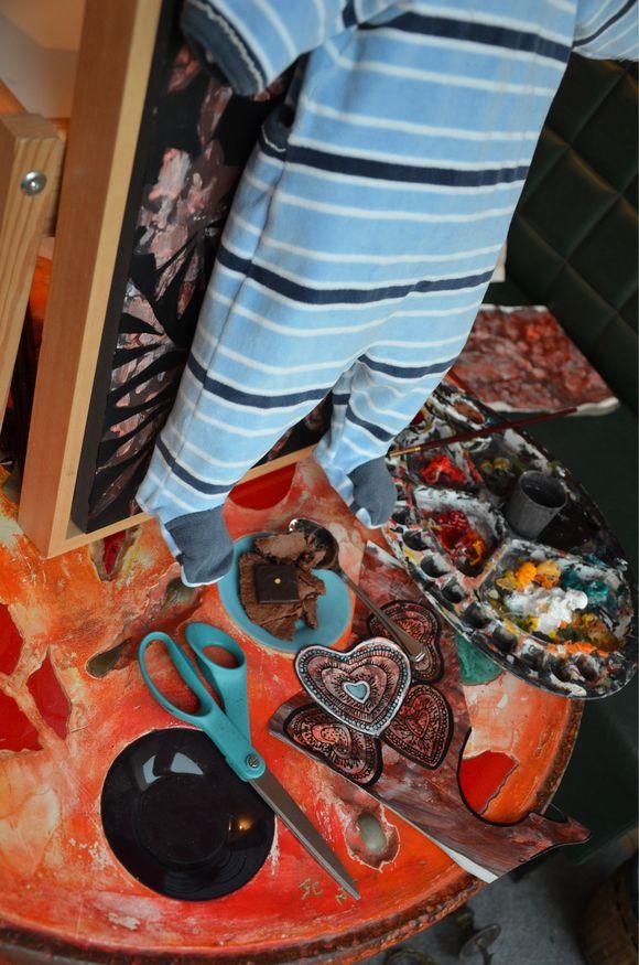 """Préparation d'une """"œuvre- sur-pyjama"""""""