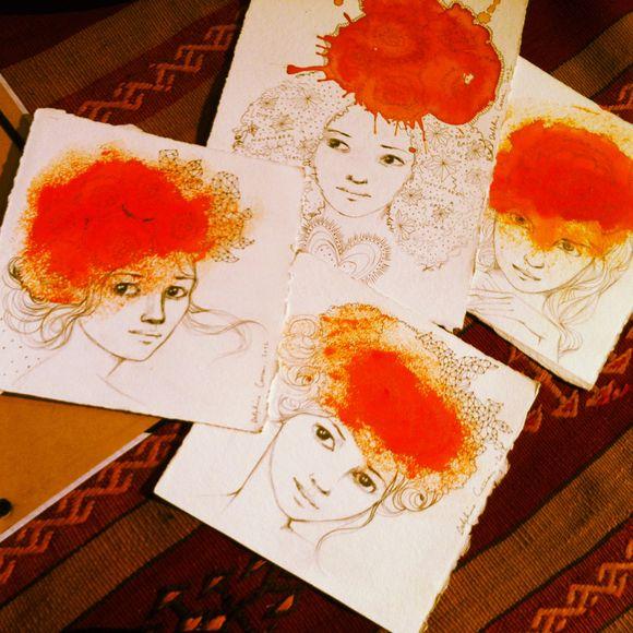 Les dessins du dimanche+Elodie, Sophie etc..