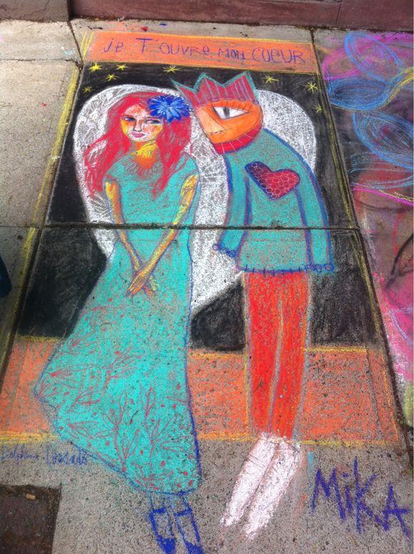 De l'Art sur le trottoir