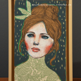 """Un Rêve turquoise"" 19x28cm / 210 euros"