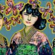 """""""Trois kimonos de soie""""  120x60cm / 1800 euros."""
